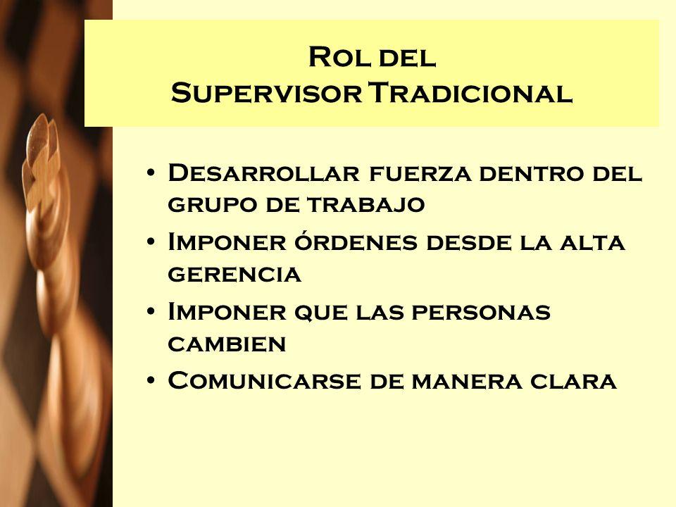 Rol del Supervisor Tradicional