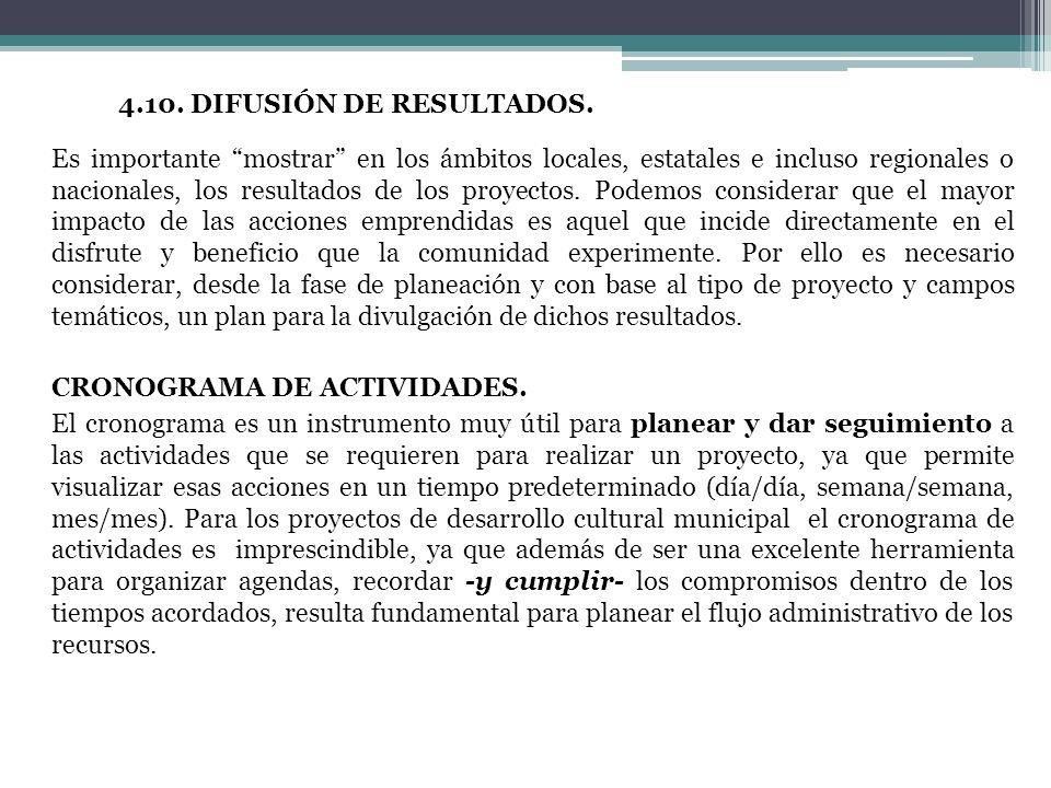 4. 11. 4. 10. DIFUSIÓN DE RESULTADOS