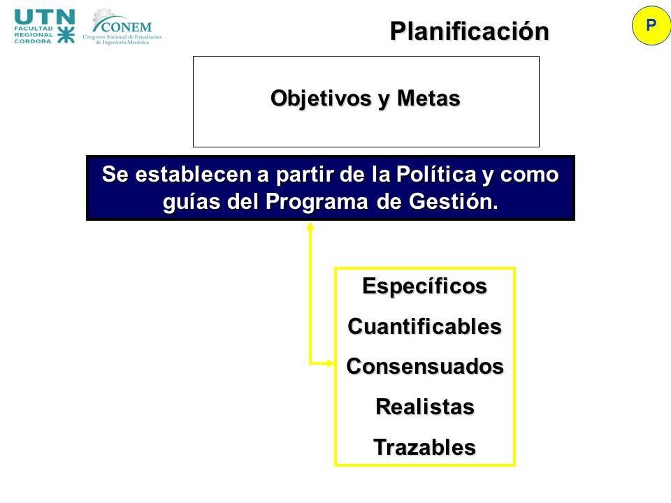 Planificación Objetivos y Metas