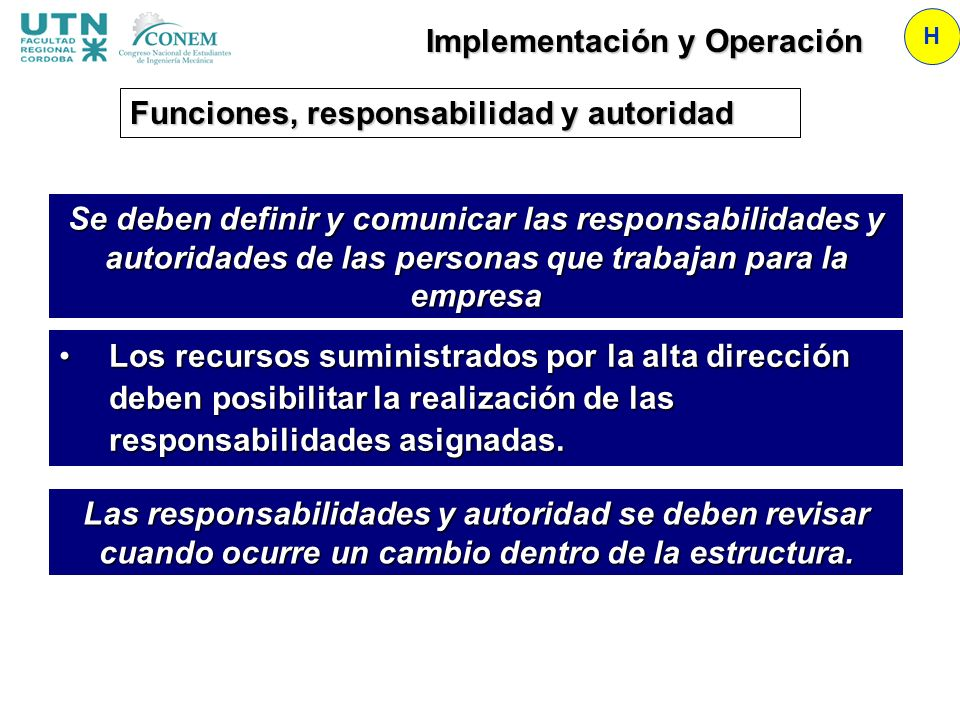 Implementación y Operación