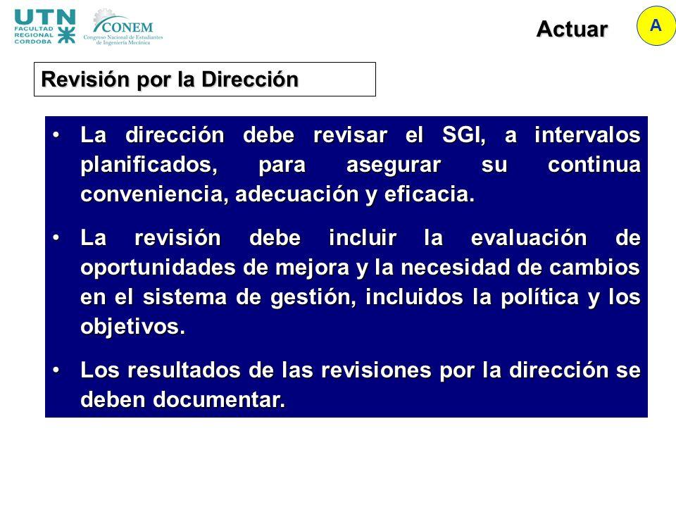 Los resultados de las revisiones por la dirección se deben documentar.