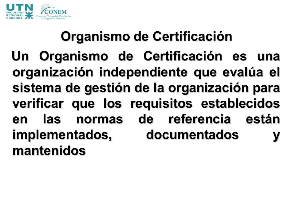 Organismo de Certificación