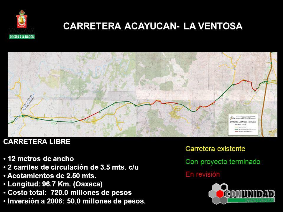 CARRETERA ACAYUCAN- LA VENTOSA