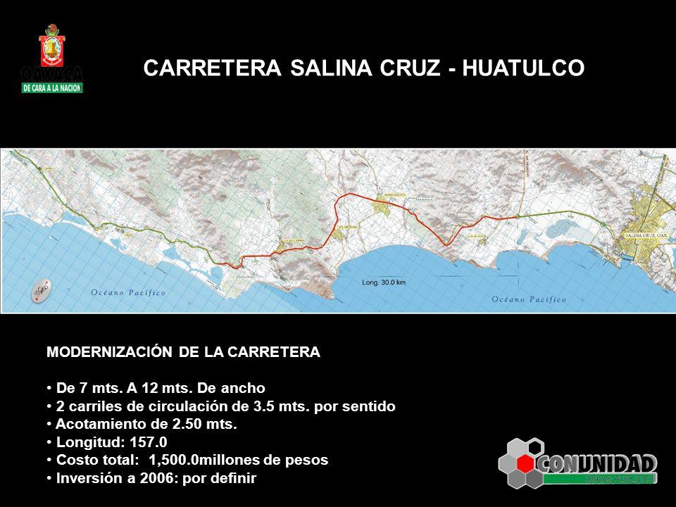 CARRETERA SALINA CRUZ - HUATULCO