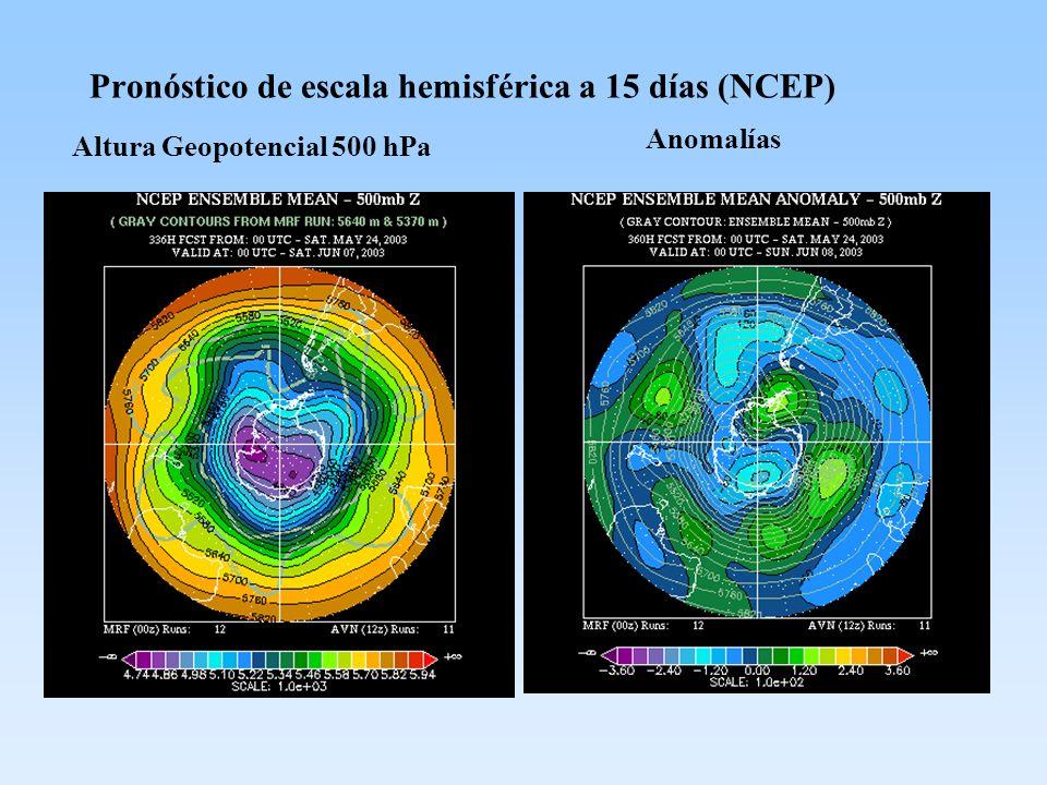 Pronóstico de escala hemisférica a 15 días (NCEP)