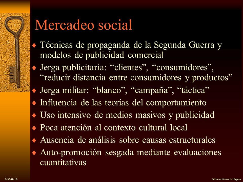 Mercadeo social Técnicas de propaganda de la Segunda Guerra y modelos de publicidad comercial.
