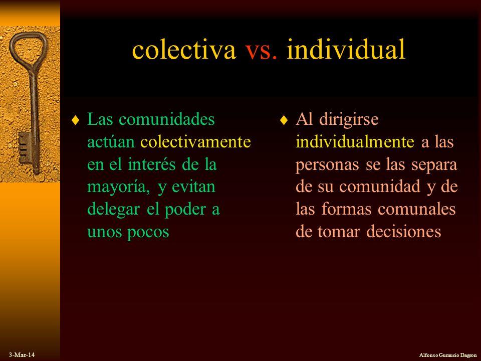 colectiva vs. individual