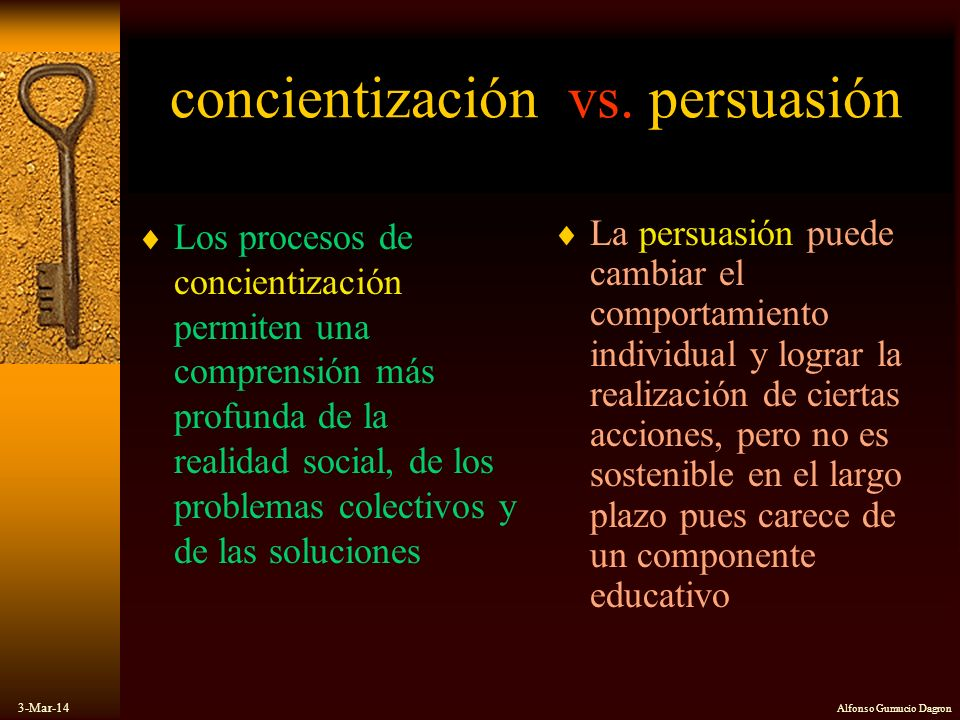 concientización vs. persuasión