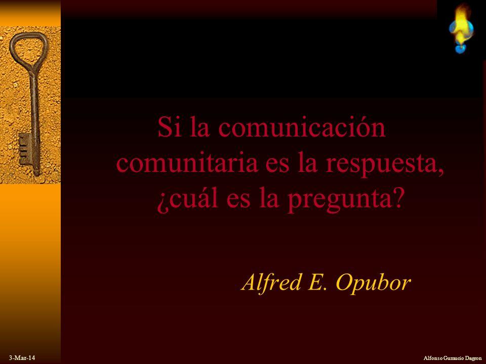 Si la comunicación comunitaria es la respuesta, ¿cuál es la pregunta