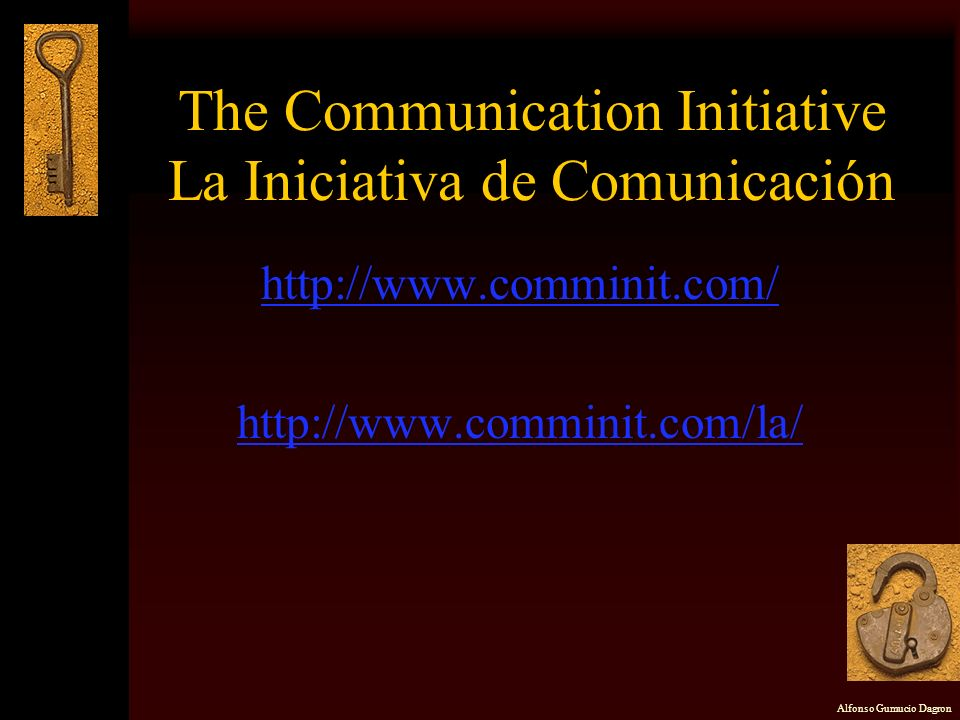 The Communication Initiative La Iniciativa de Comunicación
