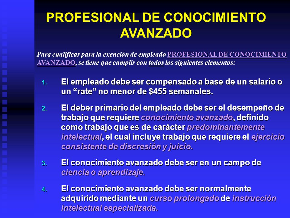 PROFESIONAL DE CONOCIMIENTO AVANZADO