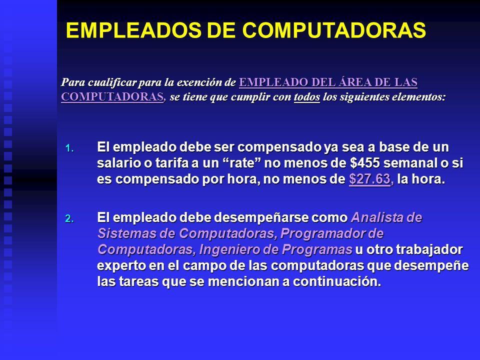 EMPLEADOS DE COMPUTADORAS