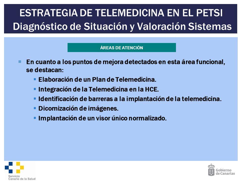 ESTRATEGIA DE TELEMEDICINA EN EL PETSI Diagnóstico de Situación y Valoración Sistemas