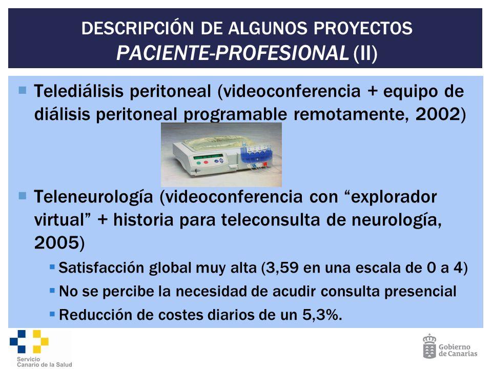 DESCRIPCIÓN DE ALGUNOS PROYECTOS PACIENTE-PROFESIONAL (II)