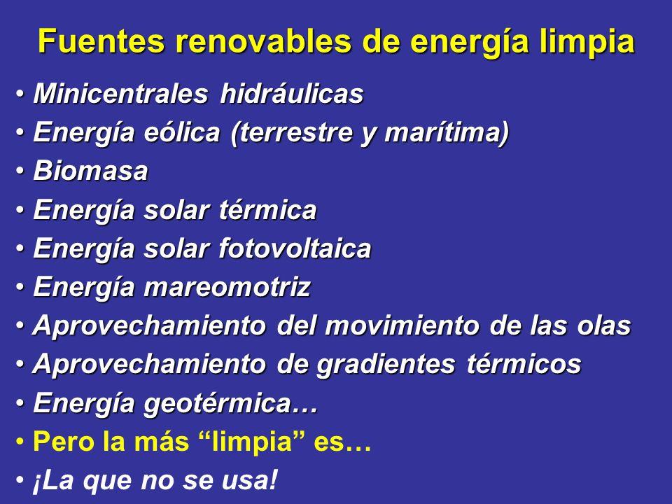 Fuentes renovables de energía limpia