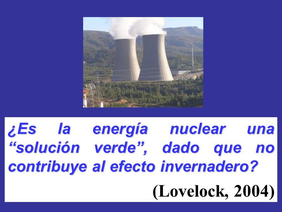¿Es la energía nuclear una solución verde , dado que no contribuye al efecto invernadero