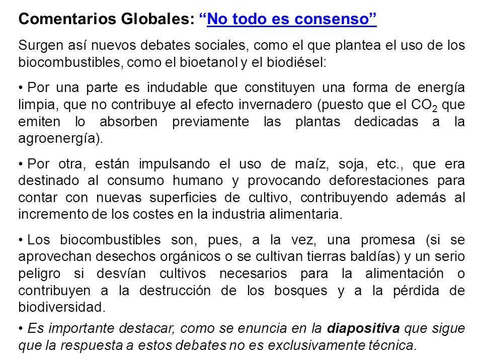 Comentarios Globales: No todo es consenso
