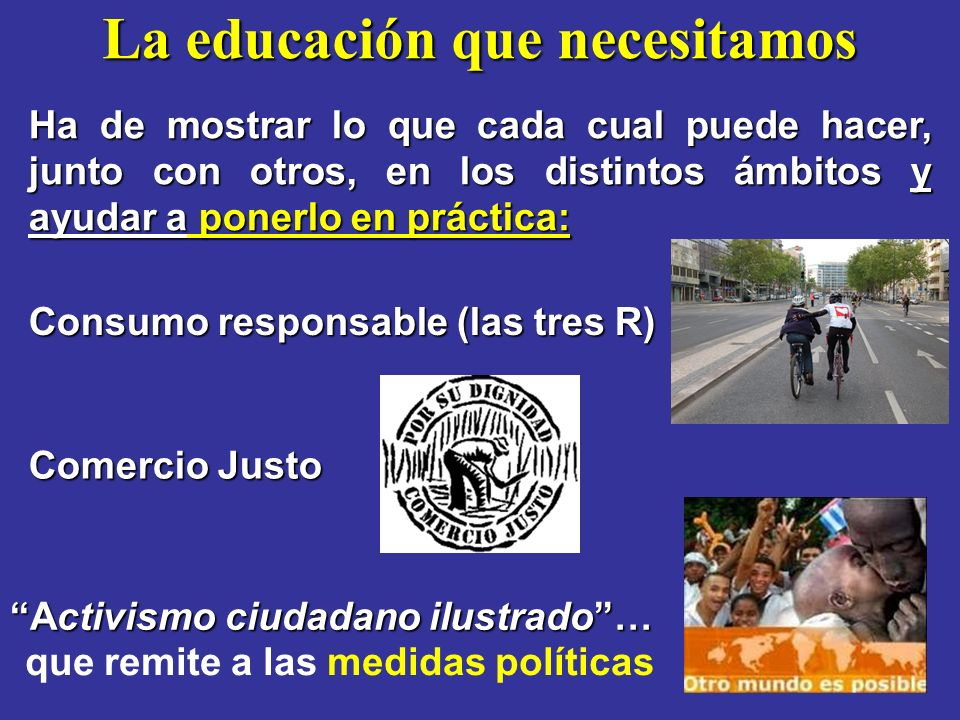 La educación que necesitamos