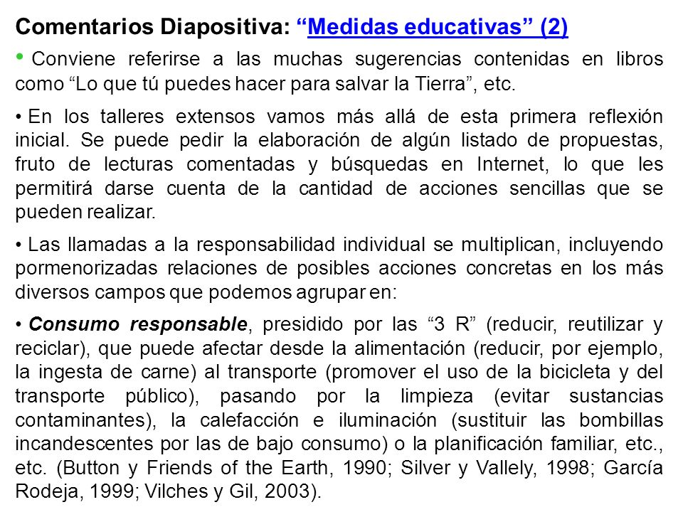 Comentarios Diapositiva: Medidas educativas (2)