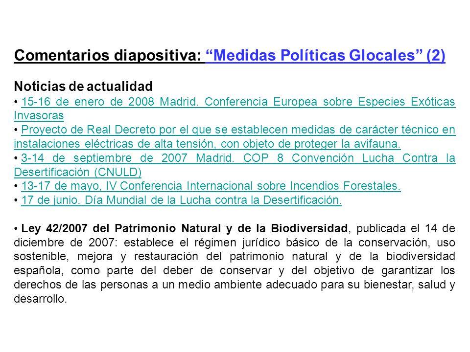 Comentarios diapositiva: Medidas Políticas Glocales (2)