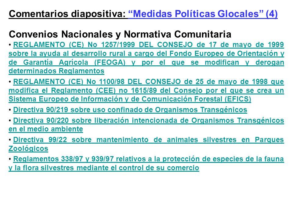 Comentarios diapositiva: Medidas Políticas Glocales (4)
