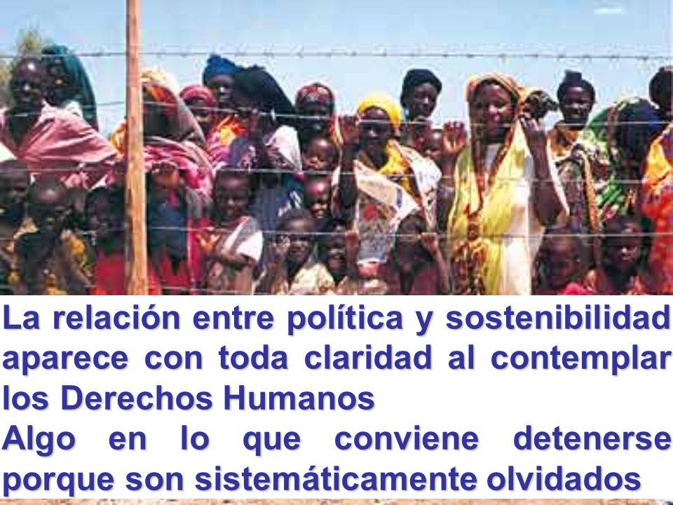 La relación entre política y sostenibilidad aparece con toda claridad al contemplar los Derechos Humanos