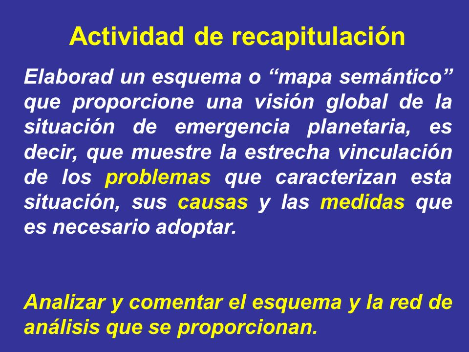 Actividad de recapitulación