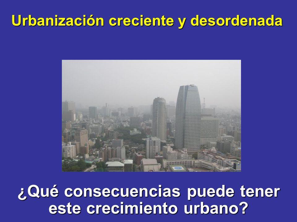 ¿Qué consecuencias puede tener este crecimiento urbano