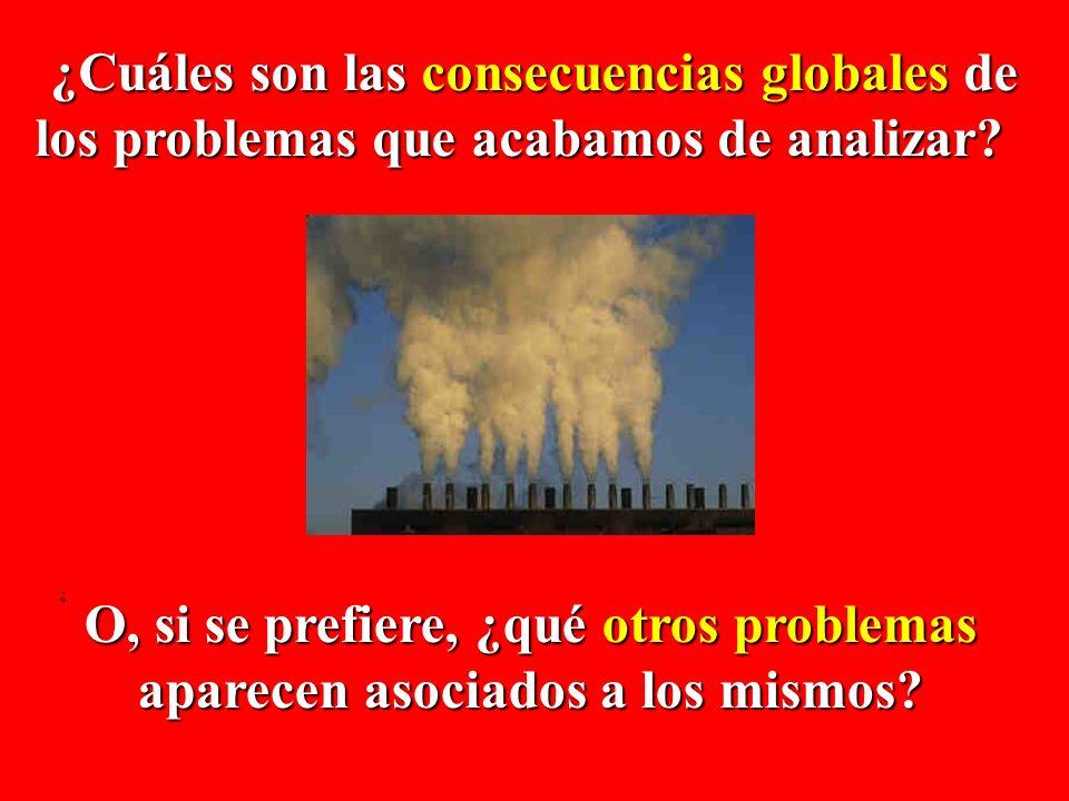 ¿Cuáles son las consecuencias globales de