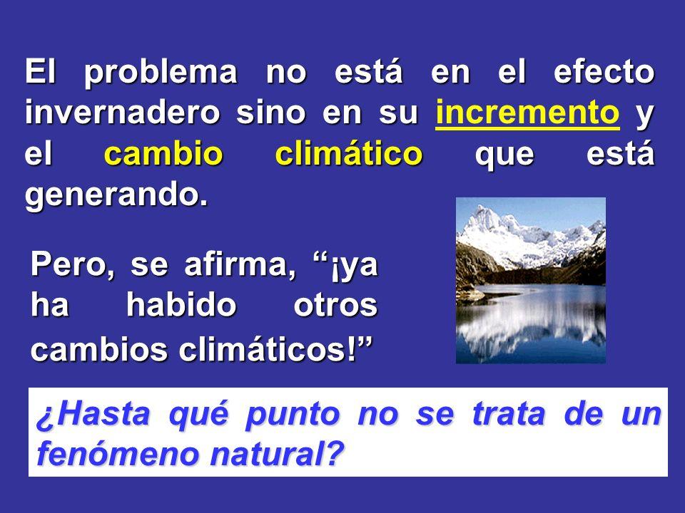 El problema no está en el efecto invernadero sino en su incremento y el cambio climático que está generando.