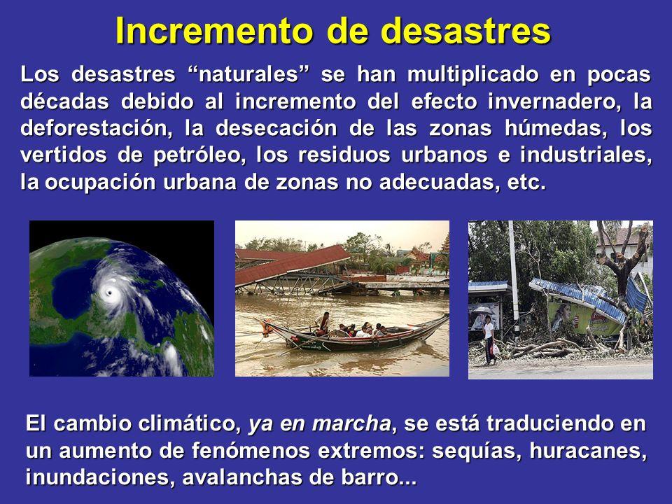 Incremento de desastres