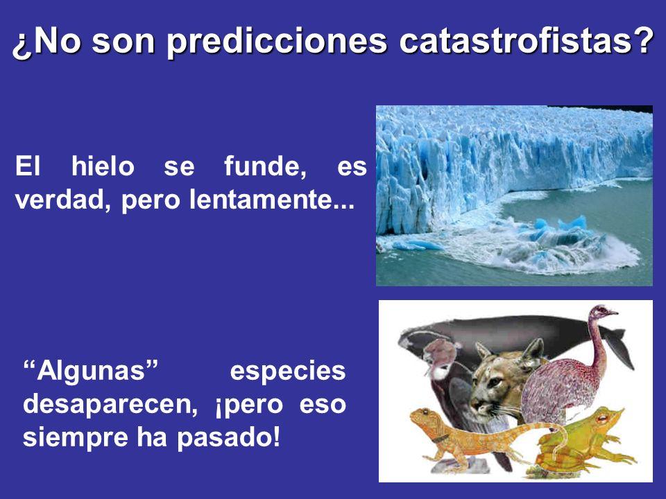 ¿No son predicciones catastrofistas