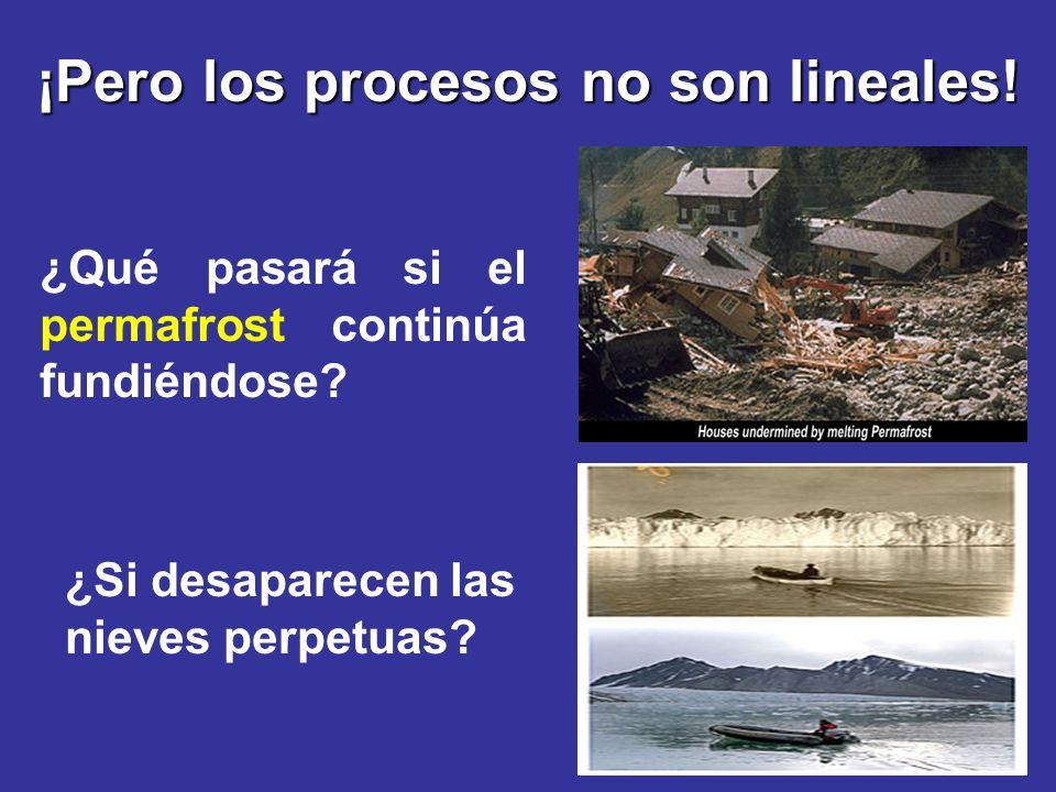 ¡Pero los procesos no son lineales!