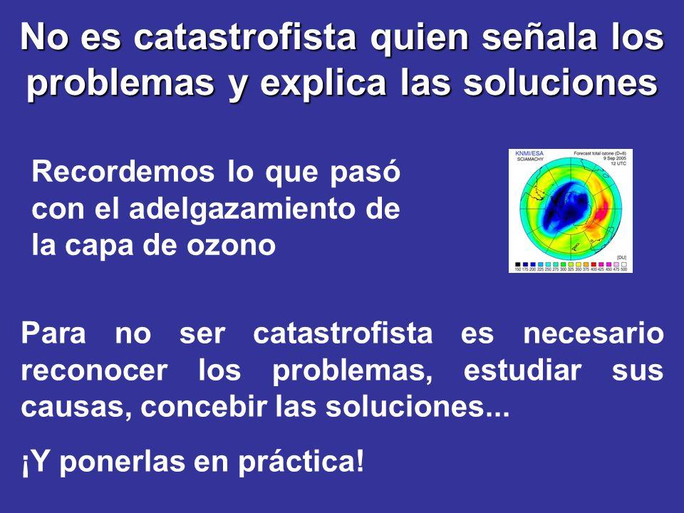 No es catastrofista quien señala los problemas y explica las soluciones