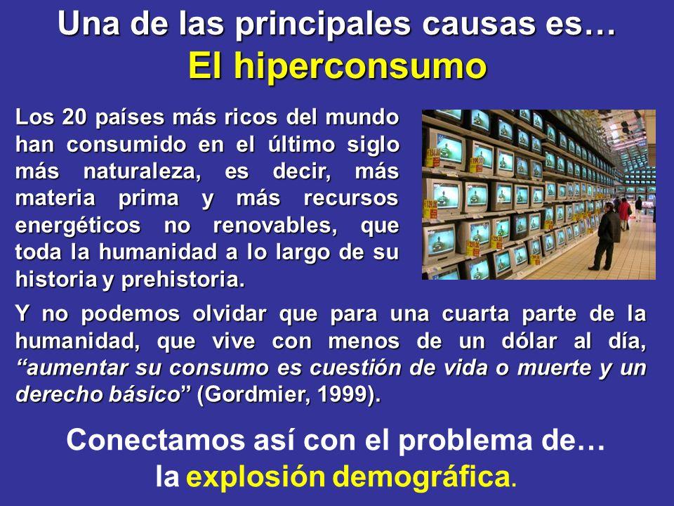El hiperconsumo Una de las principales causas es…