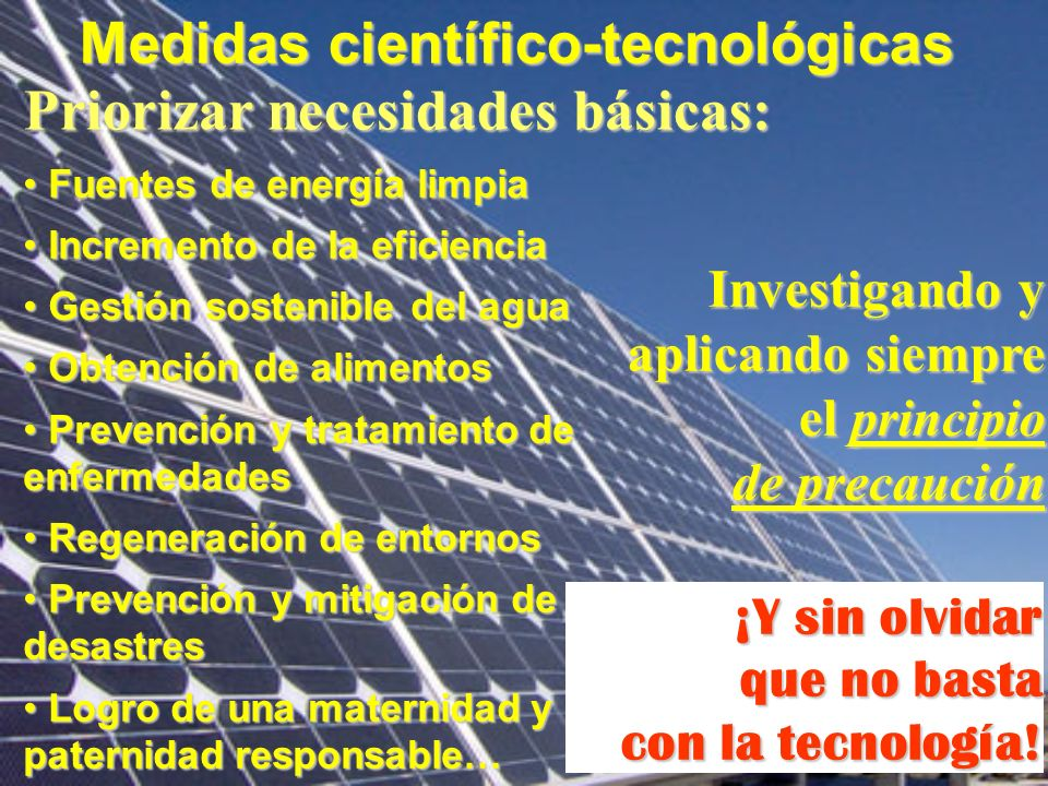 Medidas científico-tecnológicas