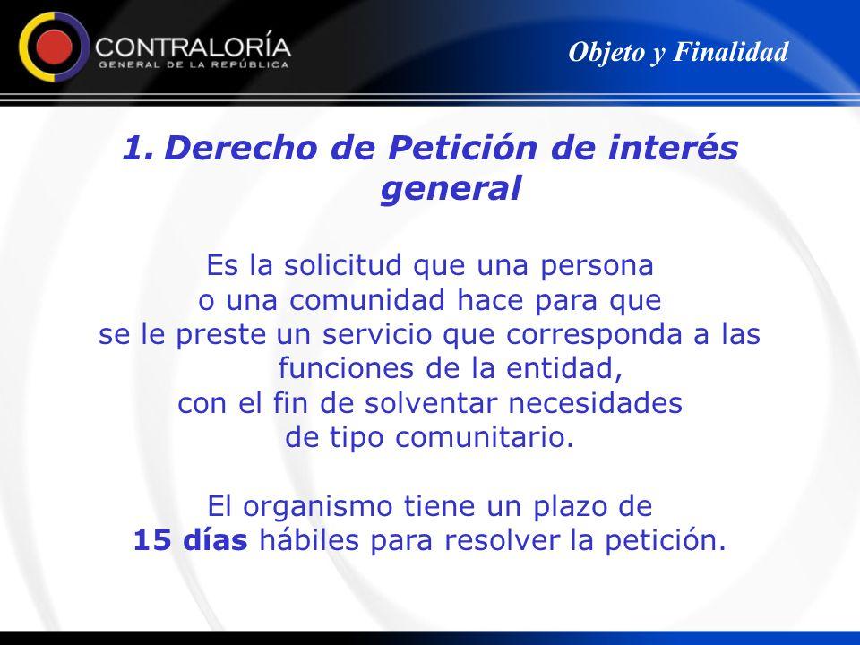 Derecho de Petición de interés general