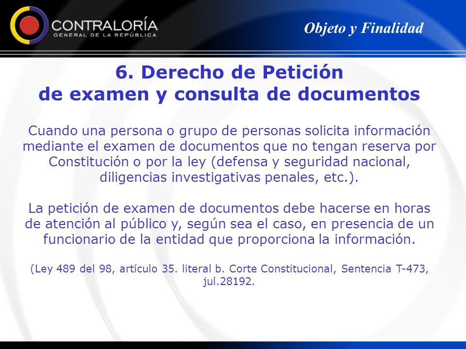 de examen y consulta de documentos