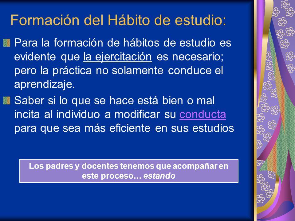 Formación del Hábito de estudio:
