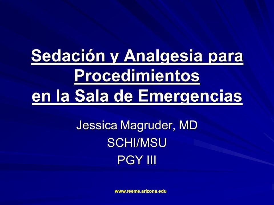 Sedación y Analgesia para Procedimientos en la Sala de Emergencias