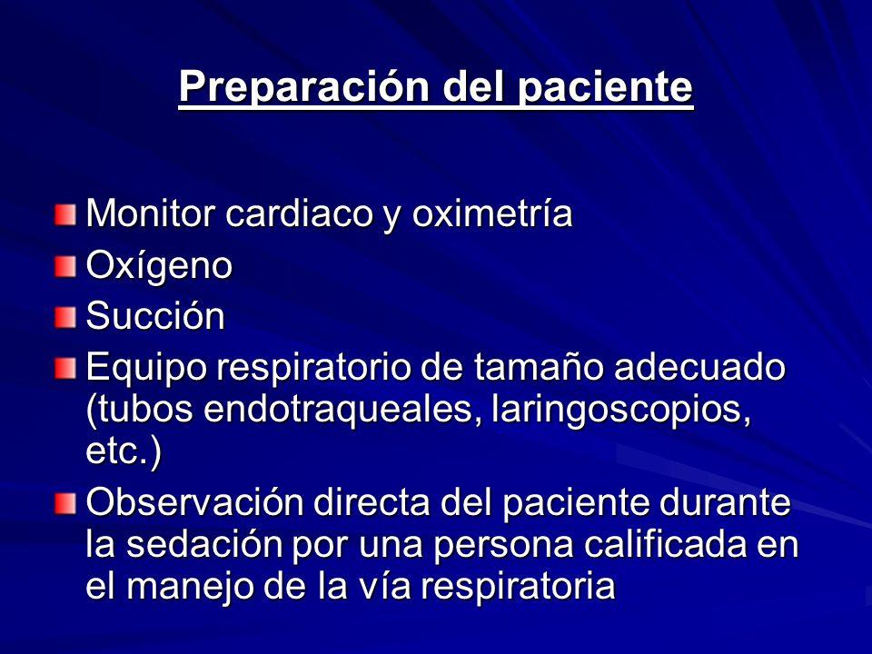 Preparación del paciente