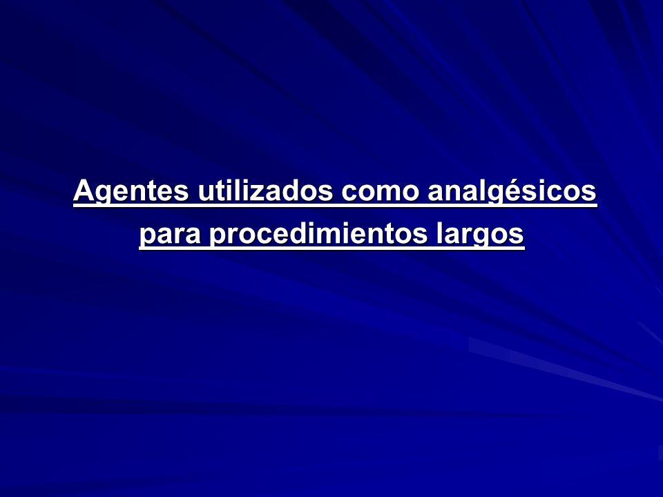Agentes utilizados como analgésicos