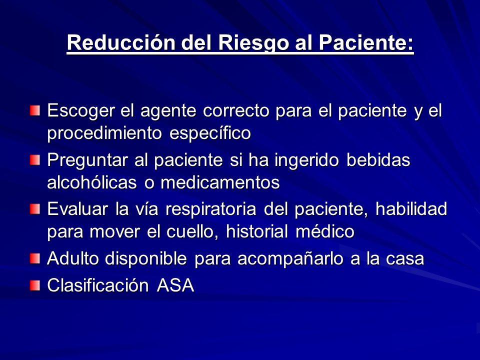 Reducción del Riesgo al Paciente:
