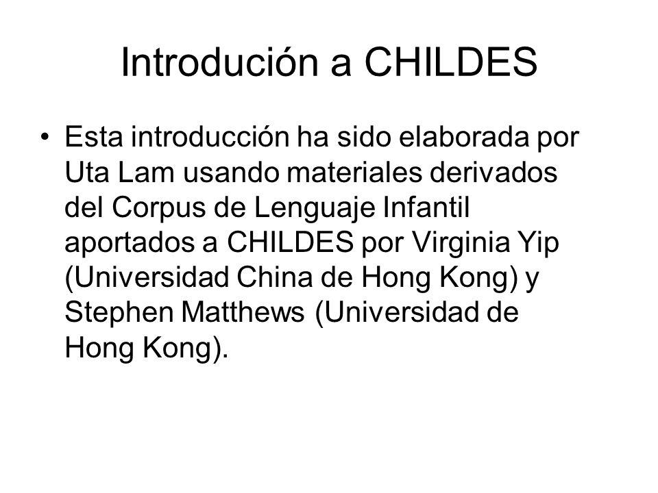 Introdución a CHILDES