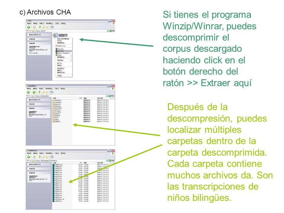 c) Archivos CHA