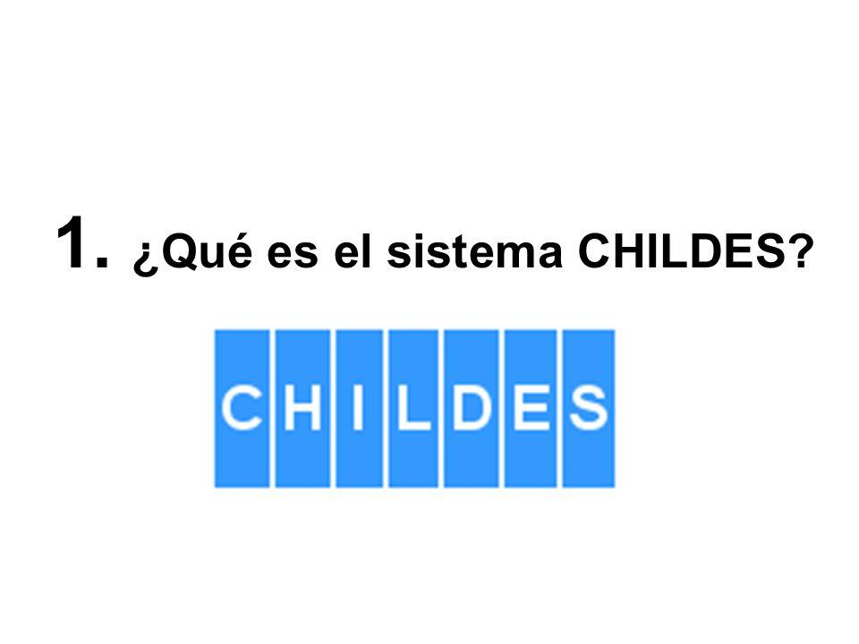1. ¿Qué es el sistema CHILDES