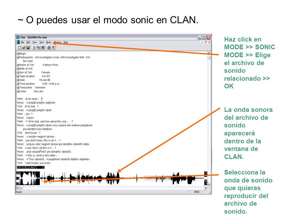 ~ O puedes usar el modo sonic en CLAN.