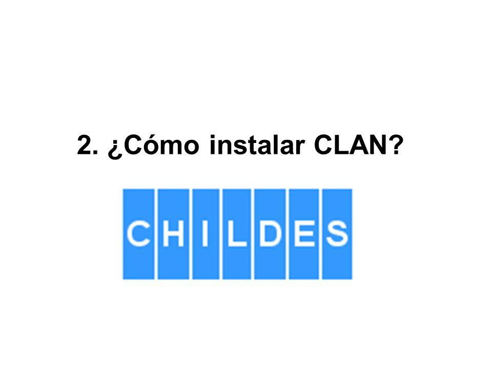 2. ¿Cómo instalar CLAN