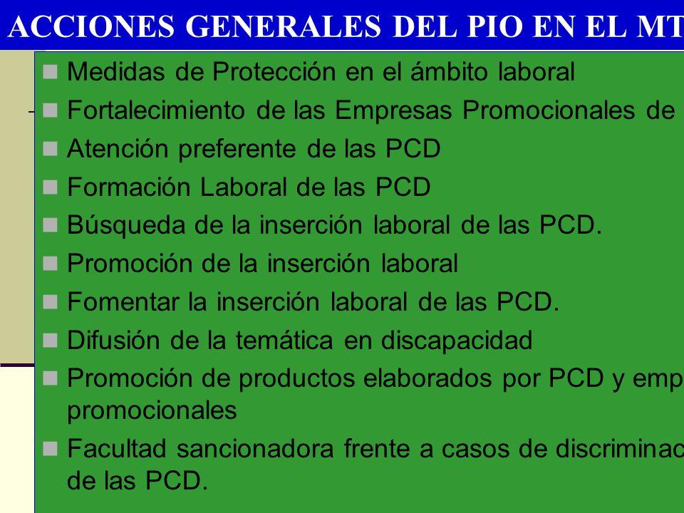 ACCIONES GENERALES DEL PIO EN EL MTPE
