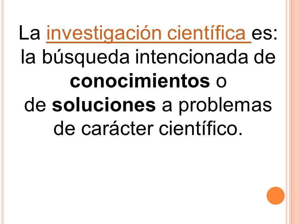 La investigación científica es: